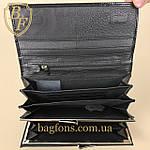 Кошелёк женский кожаный лаковый на магните Mario Dion ( 801A) разные расцветки черный, фото 7