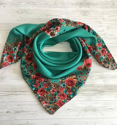 Женский шерстяной платок Цветочный Рай, фото 2
