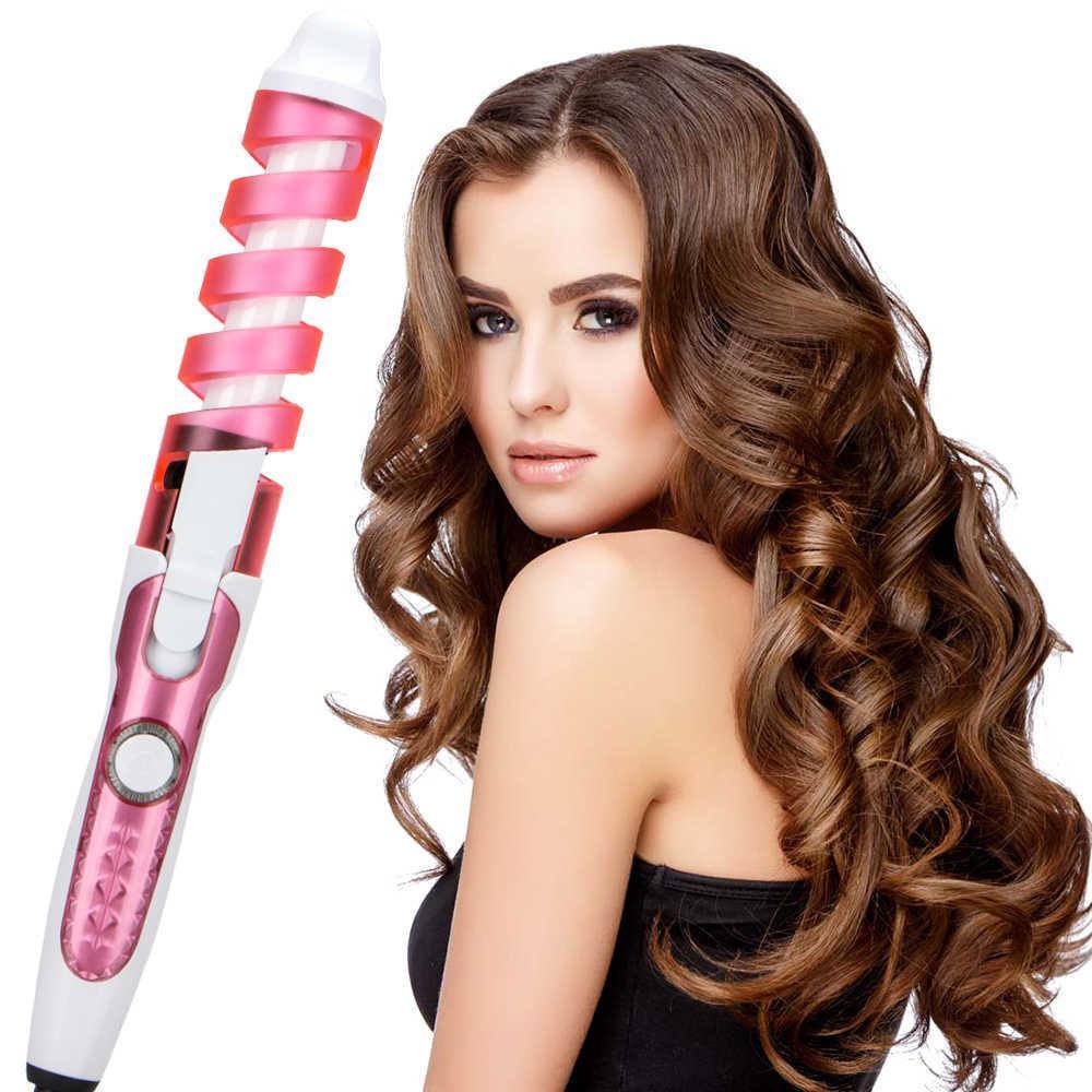 Плойка спиральная для завивки волос Rizhen RZ-118 (Розовый)
