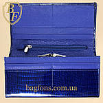 Кошелёк женский кожаный лаковый на магните Mario Dion ( 801A) разные расцветки синий, фото 5