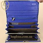 Кошелёк женский кожаный лаковый на магните Mario Dion ( 801A) разные расцветки синий, фото 7
