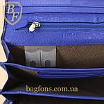 Кошелёк женский кожаный лаковый на магните Mario Dion ( 801A) разные расцветки синий, фото 6