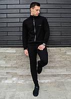 Мужской спортивный костюм Baterson Sarmat из трикотажа удобный качественный в черном цвете