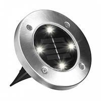 Светильник садовый Solar Disk Lights 5050 уличный на солнечной батарее