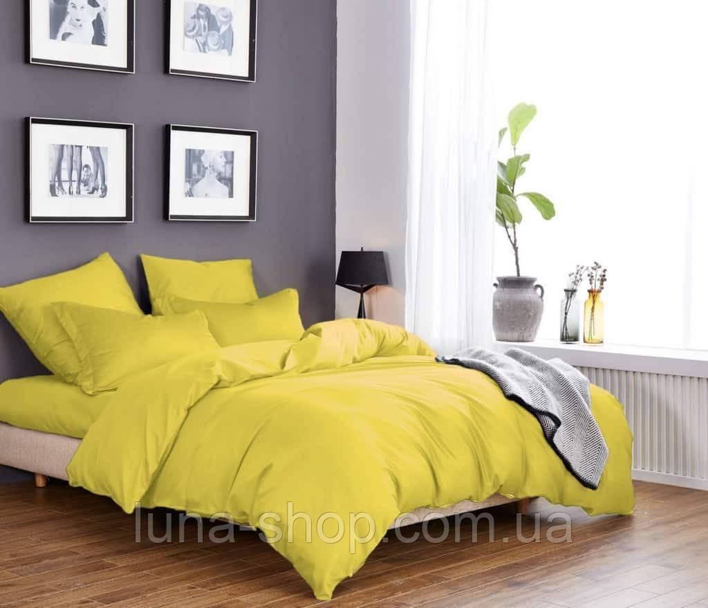 Желтый однотонный комплект из сатина
