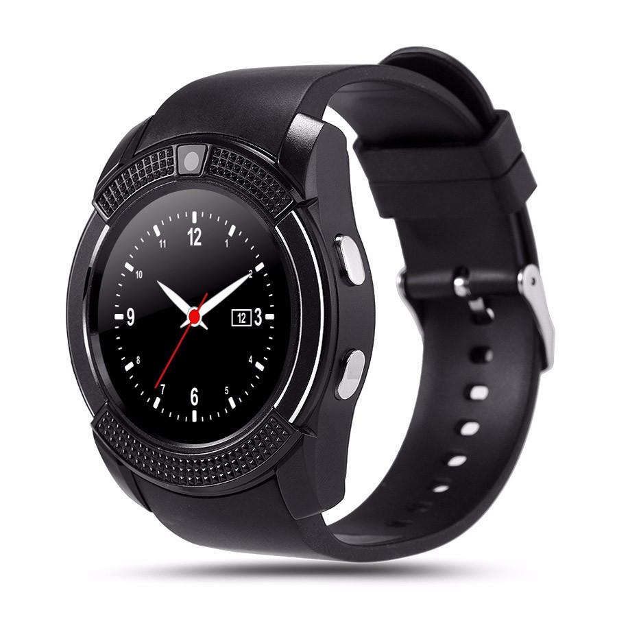 Smart Watch Uwatch умные смарт-часы с сенсорным TFT дисплеем V8 Black (Черные)