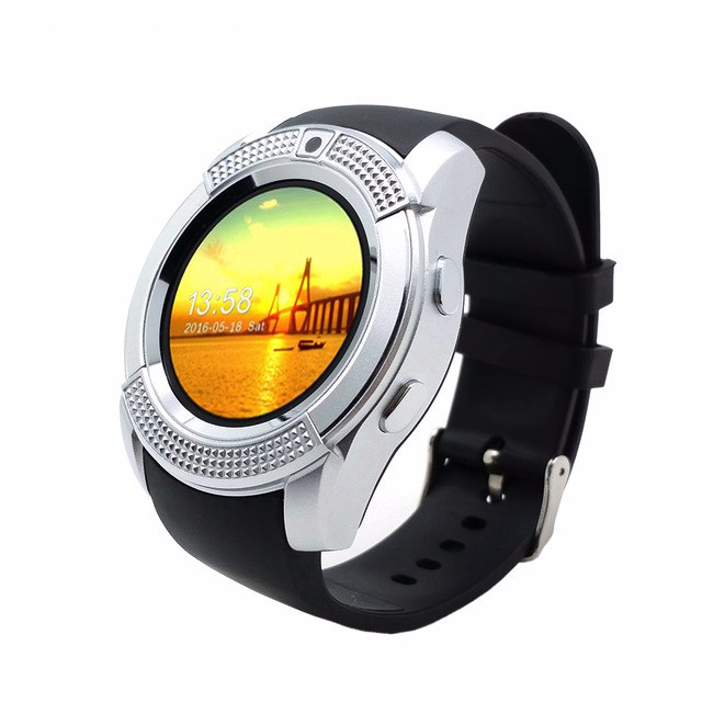Умные смарт-часы micro SIM Smart Watch UWatch V8 Серебро