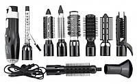 Мультистайлер для волос Gemei Фен щетка 10 в 1 GM-4833 Black (Черный)