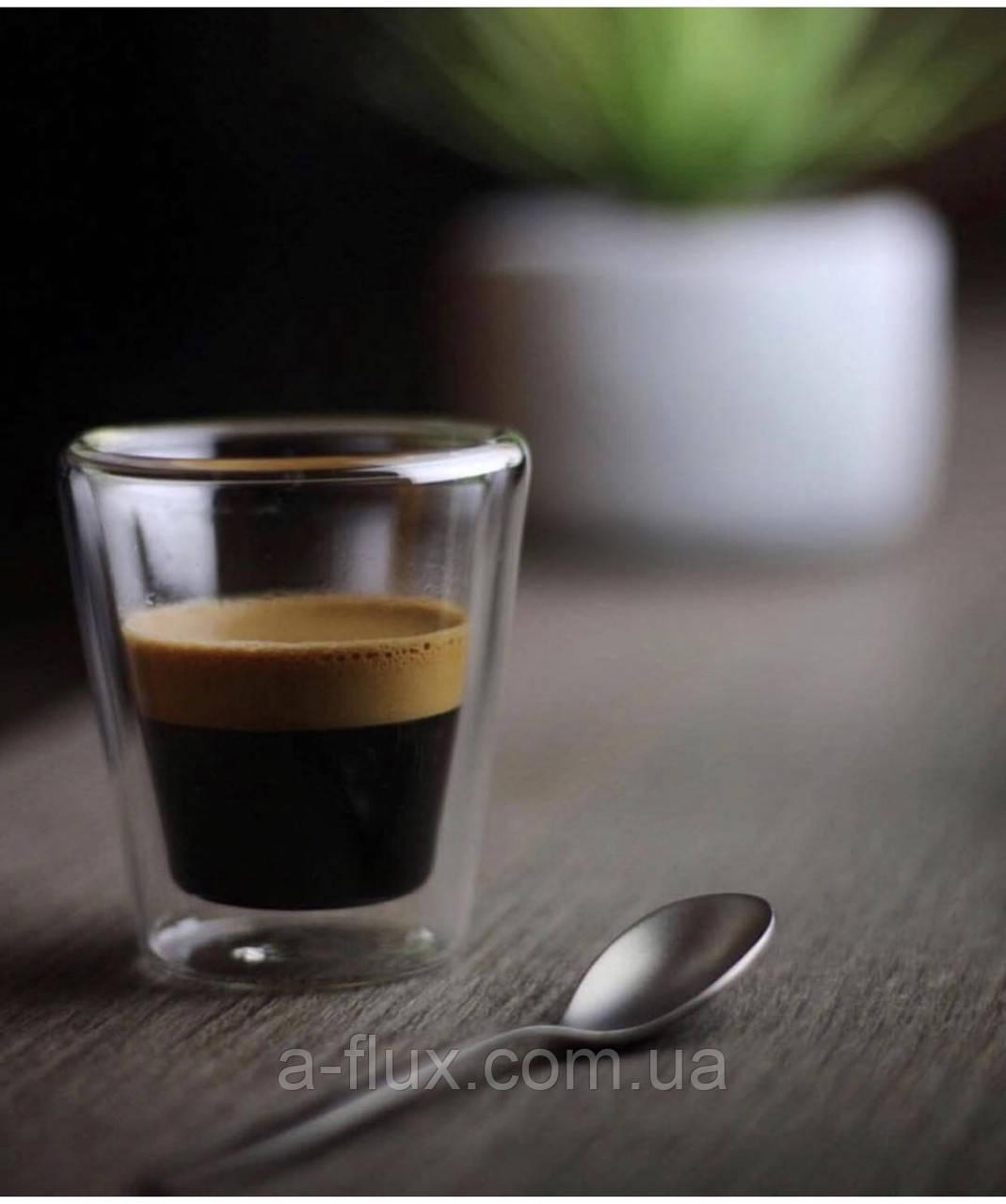 Стакан для эспрессо с двойной стенкой без ручки стекло 80 мл Гейша 16936-42