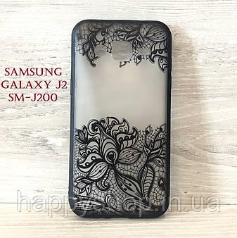 Чехол Rock Tatoo Art для Samsung Galaxy J2 (SM-J200) Fantasy Flowers, фото 2