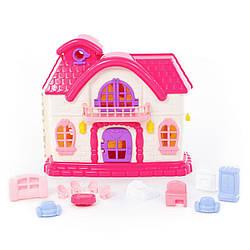 """Кукольный домик POLESIE """"Сказка"""" с набором мебели, 12 элементов в пакете (78261)"""