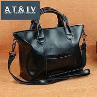 Большая кожаная сумка женская , натуральная кожа , сумки классика