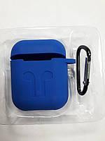 Чохол для навушників case Apple Airpods синій