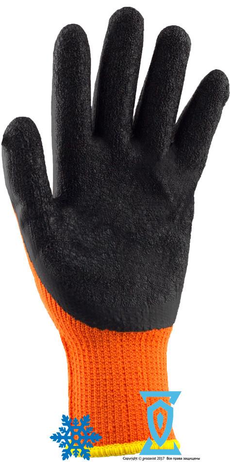 """Перчатки рабочие теплые покрытые гладким латексом """"WINORT"""" (Ogrifox)"""