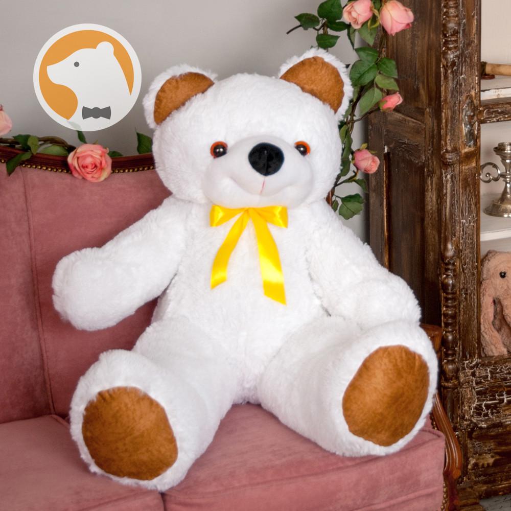 Большой плюшевый медведь Фокси, 100 см, белый