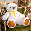 Большой плюшевый медведь Фокси, 100 см, белый, фото 2
