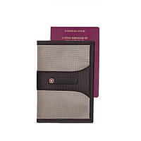 Обложка (чехол) для паспорта WENGER, серый / красный