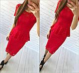 Женский костюм: кофта-баска + юбка с набивного гипюра, фото 3