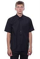 Классическая мужская рубашка с коротким рукавом Черный Sakko