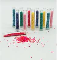 Пайетки, глиттер, блестки в баночке, звезды 6 цветов неон 12шт в наборе 7,5 х 1,2 см,  № 3071-6