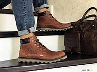 Мужские зимние ботинки Levis коричневые (зима, натуральная кожа, топ качество)