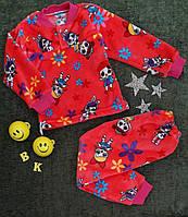 Детская пижама на травке, на девочку, р. 26-34, коралл