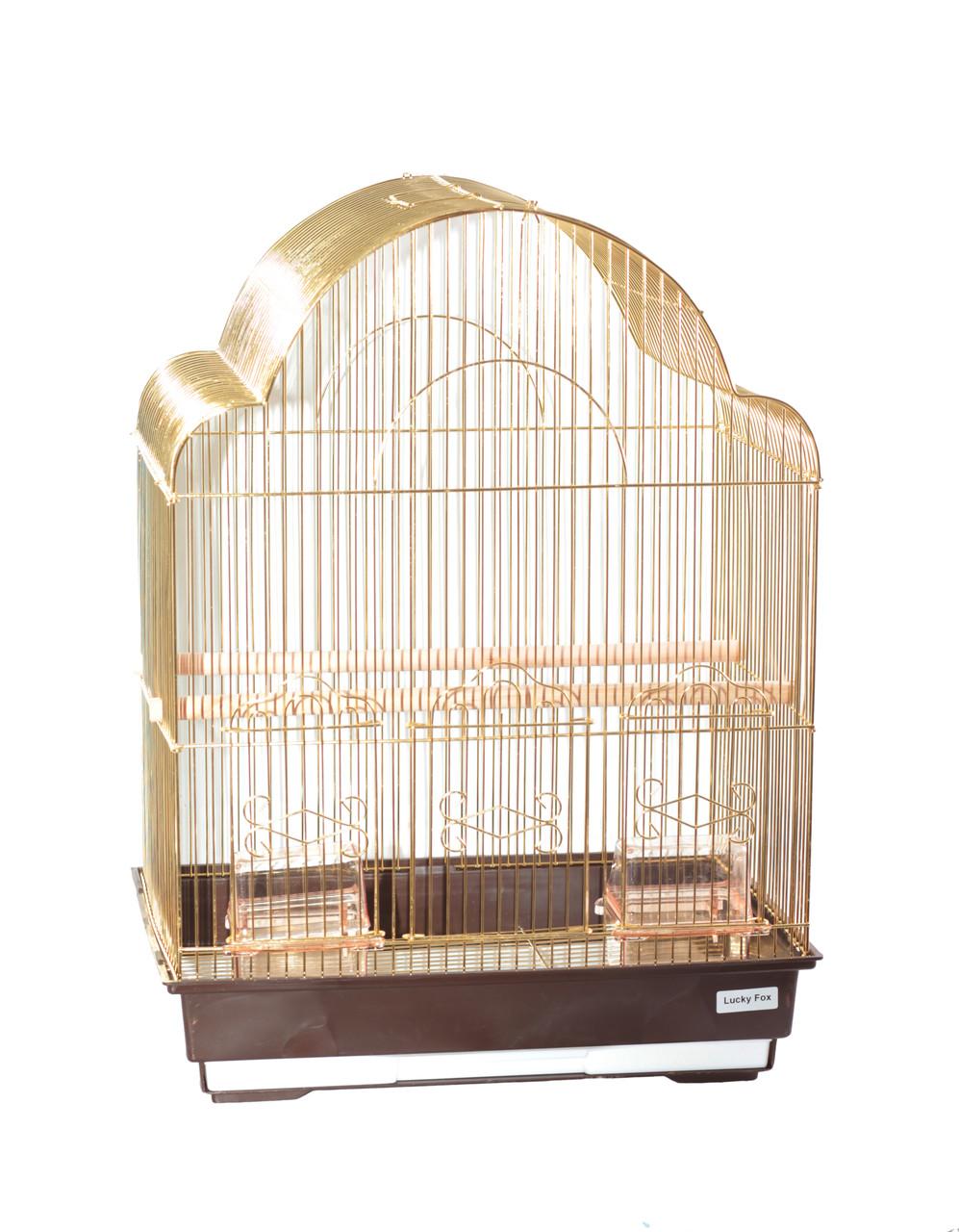 Клетка для птиц Fox Rose, золотая
