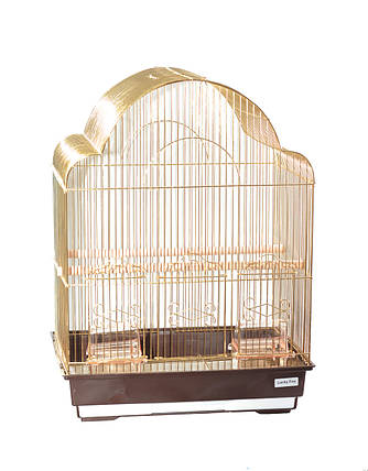Клетка для птиц Fox Rose, золотая, фото 2