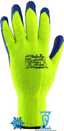 """Перчатки рабочие теплые покрытыe вспененным латексом """"Rdrag Blue Y"""", фото 2"""