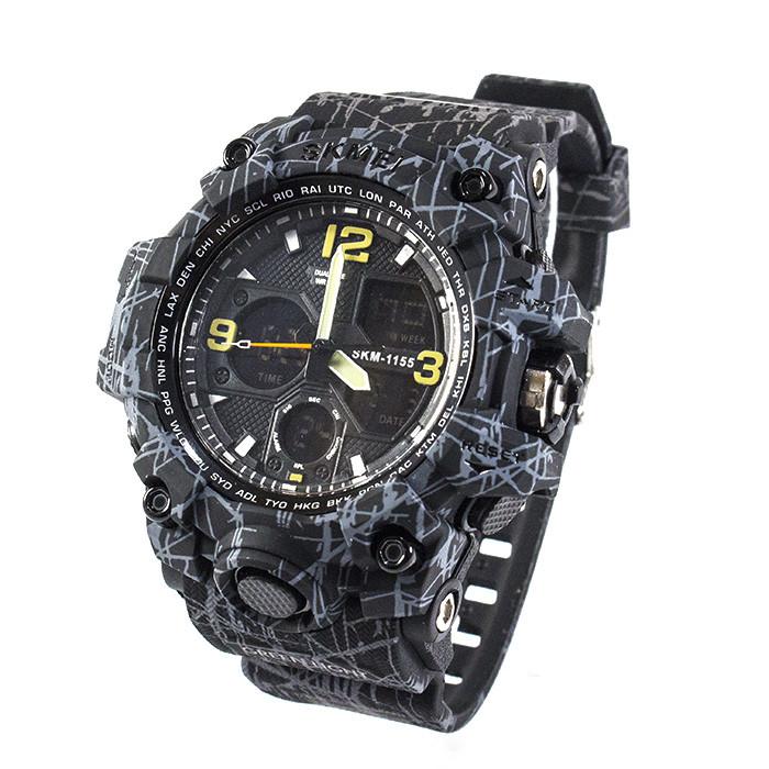Часы спортивные Skmei 1155B Black-Gray Camo