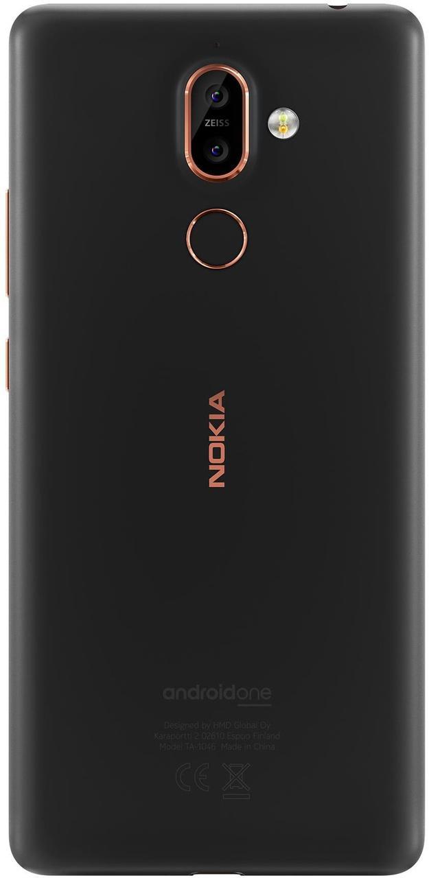 Задняя крышка Nokia 7 Plus Dual Sim TA-1046, черная, Оригинал