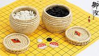 Игра Го - Камни + поле. Полимер, диаметр камня 2,1 см., набор 30 см.