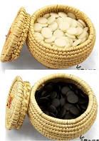 Камни Юнзи (Yun Zi GO) обоюдно выпуклые для Го + поле, диаметр камня 2,1 см., набор 30 см.
