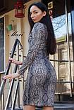 Стильное ангоровое платье-гольф, стильный принт питон, три расцветки (40-46), фото 8