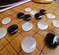 Камни для Го из Агата, диаметр 2-2,2 см.
