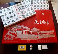 Махджонг классический, Маджонг ПВХ коробка: 33 х 23 х 5 см., тайлы 3,2 х 2,4 х 1,8 см.