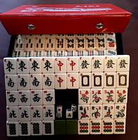 Игра Маджонг английский средний с номерами, Mahjong. ПВХ коробка: 24х16х6 см., тайлы 3х2,2х1,7см