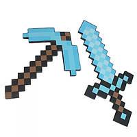 Піксельний Алмазний Набір Minecraft (Меч 62cm, Кірка 45 см) ПОВНОРОЗМІРНИЙ
