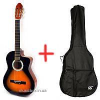 Классическая гитара Bandes CG 851 С/3TS 39'' + чехол