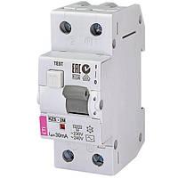 Дифференциальный автоматический выключатель ETI KZS-2M 16А 30мА АC