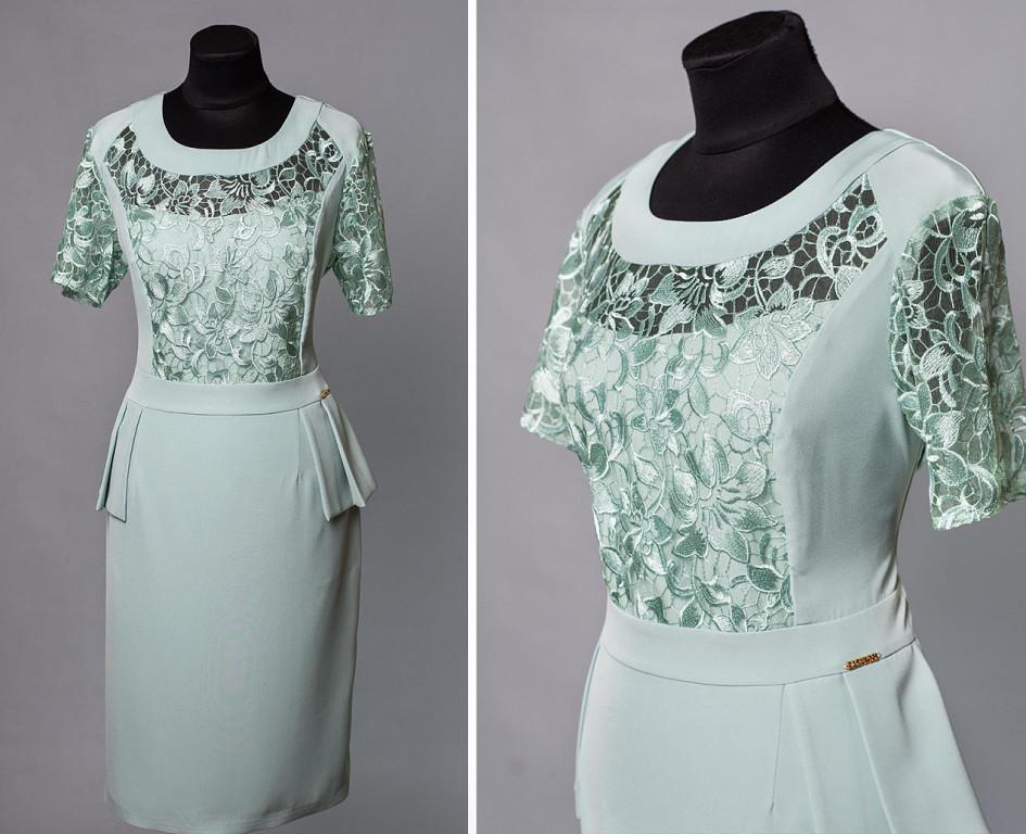 """Романтичное женское платье ткань """"Костюмная"""" 50 размер батал"""