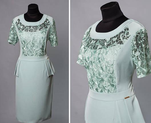 """Романтичное женское платье ткань """"Костюмная"""" 50 размер батал, фото 2"""