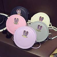 Женская круглая сумочка с ушками