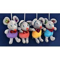 Мягкая игрушка Мышка блестящая с косынкой (19 см) №026566