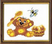 """Набор для вышивания крестом детский """"Мишка и мед"""" №261 """"Чарівна Мить"""""""
