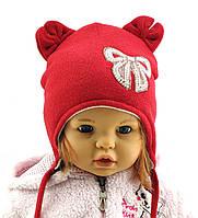 Оптом шапка детская с 48 по 52 размер ангора ушками шапки головные уборы детские опт, фото 1