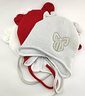 Оптом шапка детская с 48 по 52 размер ангора ушками шапки головные уборы детские опт