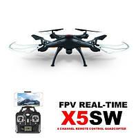 Квадрокоптер на радиоуправлении с камерой  р/у Syma X5SW с камерой WiFi (Чорный)