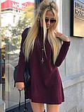 Теплое ангоровое платье под горло с длинным рукавом, фото 3