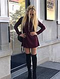 Теплое ангоровое платье под горло с длинным рукавом, фото 5
